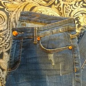 Seven7 Jeans - Seven7 Distressed Jeans w/ Jewel Accents